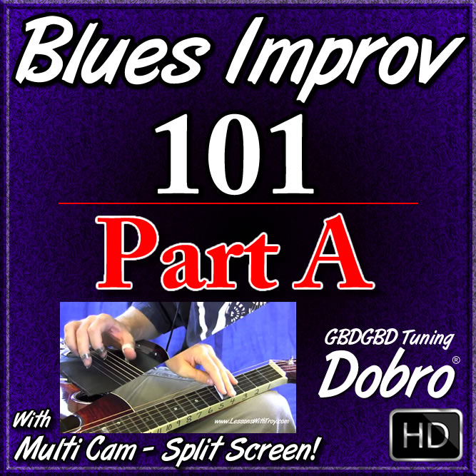 BLUES IMPROV. 101 - Part A - Scale Diagrams in GBDGBD Tuning