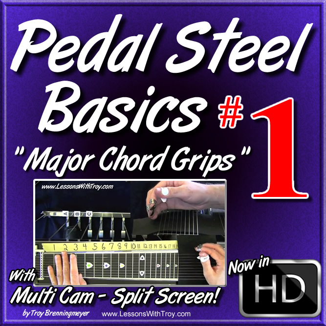 #01 - PEDAL STEEL BASICS - Major Chord Grips
