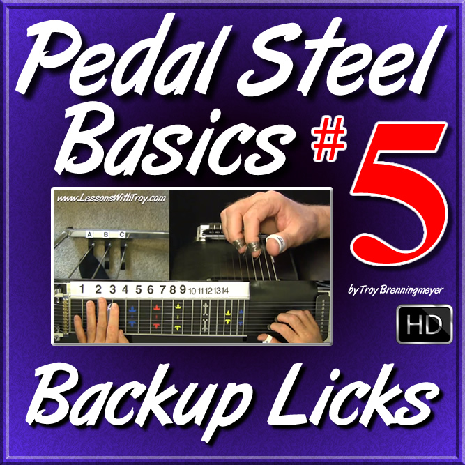"#05 - PEDAL STEEL BASICS - ""Beginner Backup Licks"""