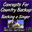 Concepts for Country Backup - Backing a Singer on Dobro