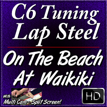 On The Beach At Waikiki - Hawaiian Song for C6 Lap Steel