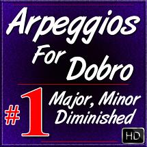 Arpeggios For Dobro - Volume #1 - Major, Minor, Diminished