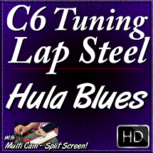 HULA BLUES - C6 Hawaiian Lap Steel Lesson