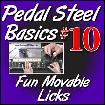 #10 - PEDAL STEEL BASICS - Fun Movable Licks