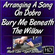 BURY ME BENEATH THE WILLOW - Arranging A Song In Different Keys On Dobro