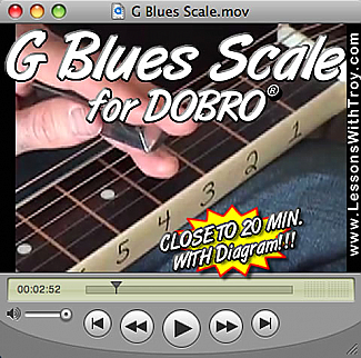 G Blues Scale with Diagram for Dobro®