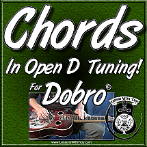 CHORDS - IN OPEN D TUNING FOR THE DOBRO® - Over 100 Chords!!!!