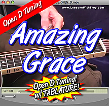 Amazing Grace - In Open D Tuning