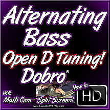 Alternating Bass - Open D Tuning