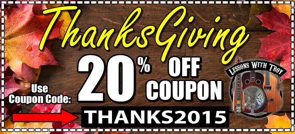 Thanksgiving Coupon Code