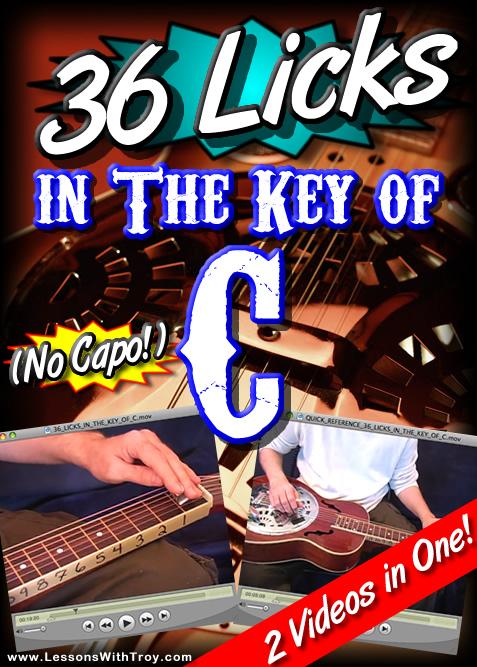 36 Licks In The Key Of C - NO CAPO!
