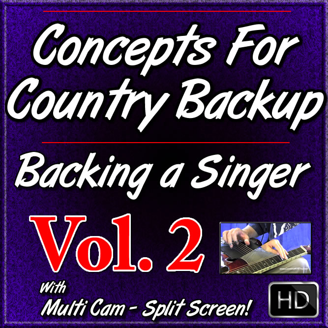 Concepts for Country Backup - Backing a Singer on Dobro - Volume #2