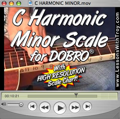 C Harmonic Minor Scales for Dobro®