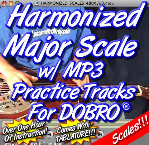 Harmonized Major Scale for Dobro®
