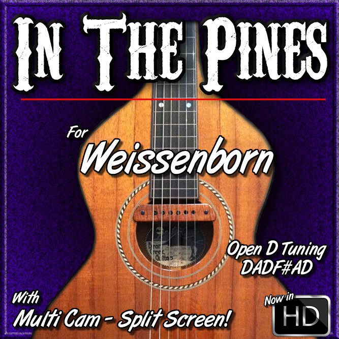 IN THE PINES - for Open D Tuning - Weissenborn