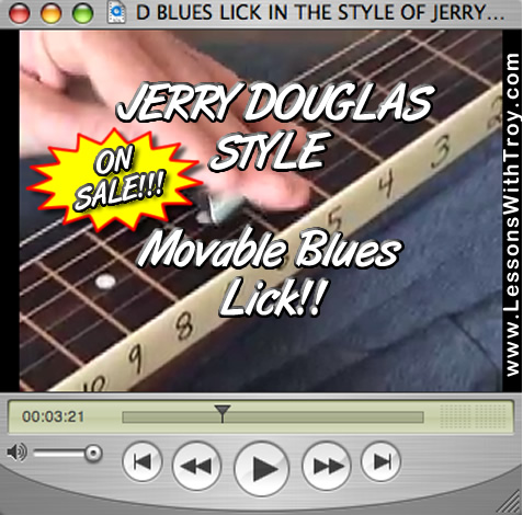 D Blues Lick - Jerry Douglas Style