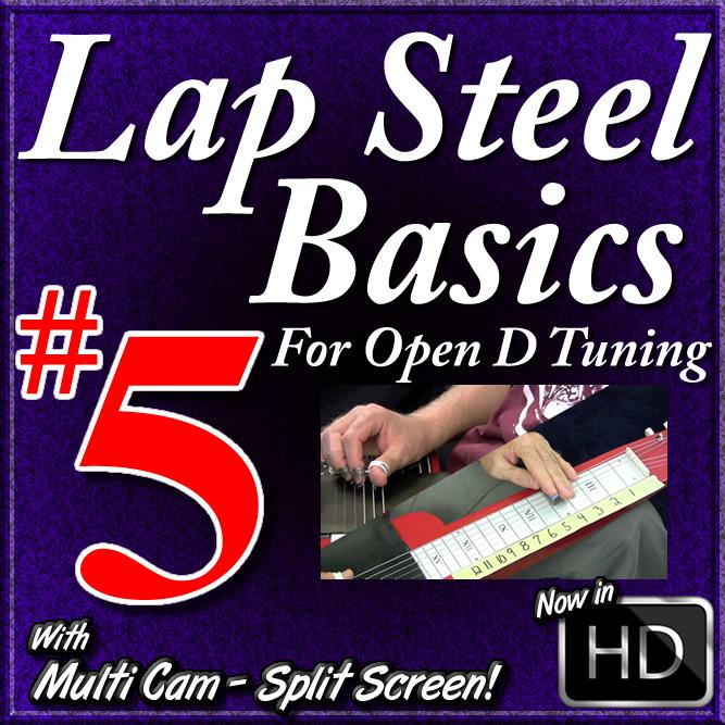 Lap Steel Basics - Vol. 5 - MOVABLE BLUES LICKS