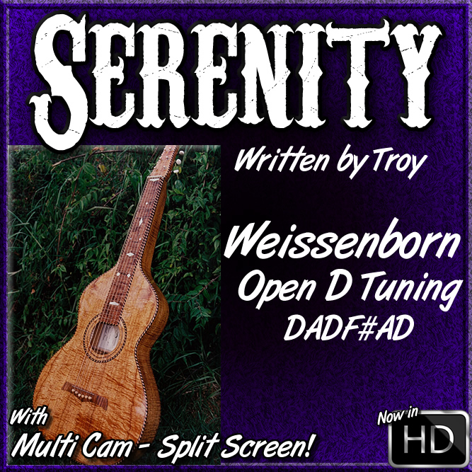 Serenity - An Original Tune for Weissenborn or Dobro - in Open D Tuning