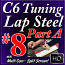 #8 A - C6 Basics - Slow Country Backup - Pedal Steel Sounds for Lap Steel