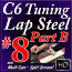 #8 B - C6 Basics - Slow Country Backup - Pedal Steel Sounds for Lap Steel