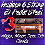 #3 - Hudson Pedal Steel Basics - Major, Minor, Dom 7th Chords
