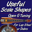 Useful Scale Shapes - Diagram Open G Tuning - Lap Steel or Dobro