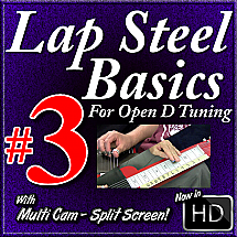 Lap Steel Basics - Vol. 3 - SLOW BLUES IN D