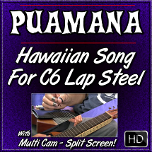 PUAMANA - Fun & Easy Hawaiian Song for C6 Lap Steel