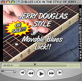 D Blues Lick - Jerry Douglas Style
