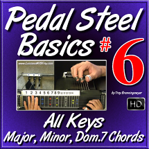 #6 - PEDAL STEEL BASICS - All Keys - Major, Minor, Dom.7 Chords