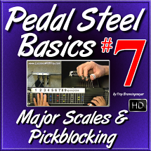 #07 - PEDAL STEEL BASICS - Major Scales & Pickblocking