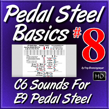 #08 - PEDAL STEEL BASICS - C6 Sounds For E9 Pedal Steel