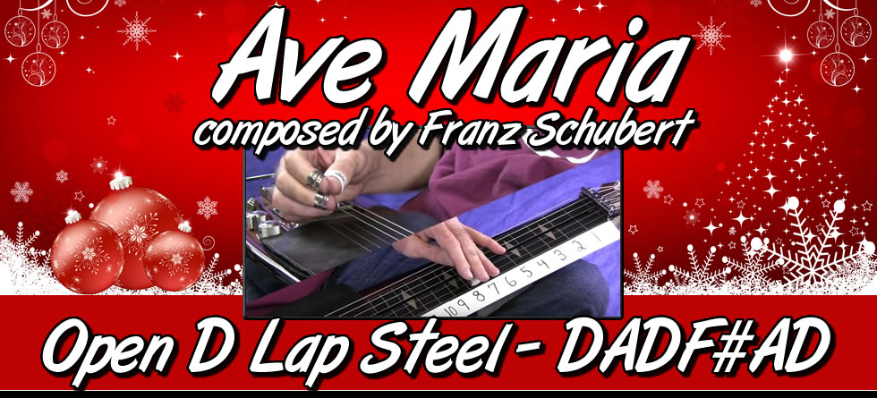 Ave Maria for Open D Lap Steel