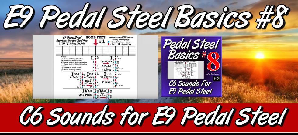 #8 Pedal Steel Basics - C6 Sounds For E9 Pedal Steel