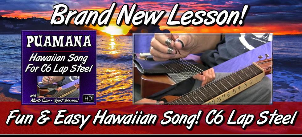 Puamana - Fun and Easy Hawaiian Song for C6