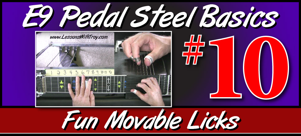 E9 Pedal Steel Basics - Vol. 10